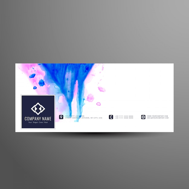 Abstrakte stilvolle facebook timeline banner vorlage Kostenlosen Vektoren