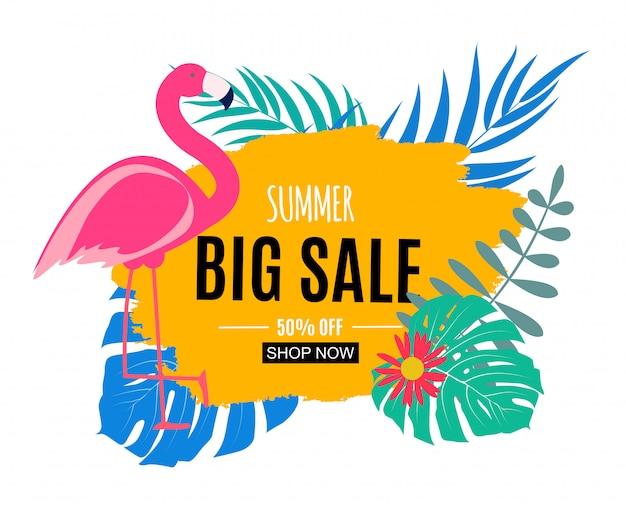 Abstrakte summer sale banner Premium Vektoren