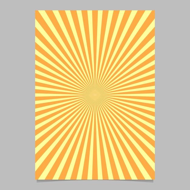 Abstrakte sunburst broschüre design-vorlage Kostenlosen Vektoren