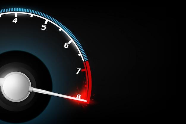 Abstrakte tachometertechnologie-konzepthintergrund vektorillustration. Premium Vektoren