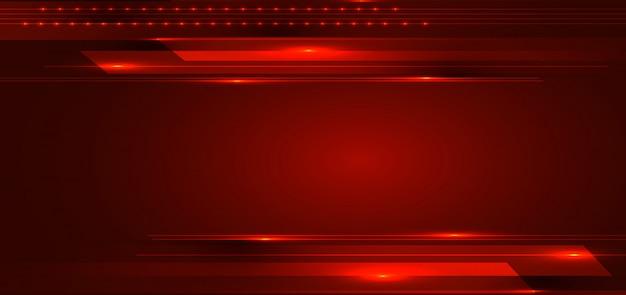 Abstrakte technologie streift linien roten hintergrund Premium Vektoren