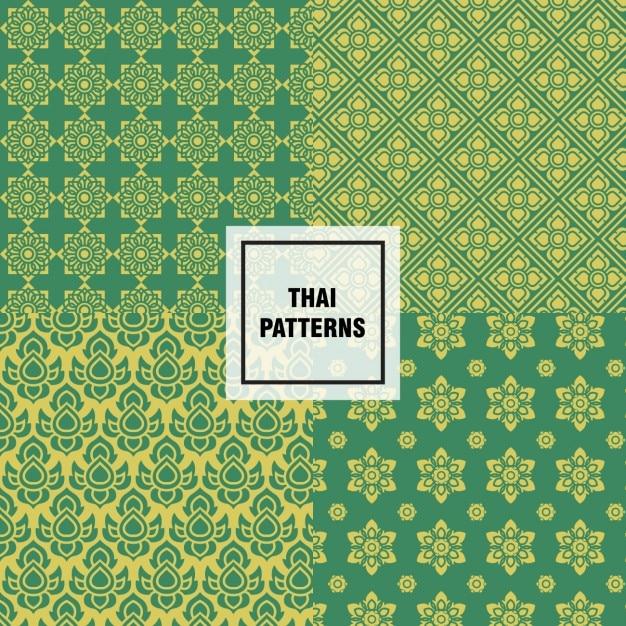 Abstrakte thai muster design Kostenlosen Vektoren