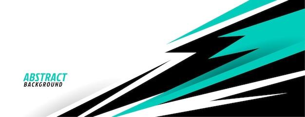 Abstrakte türkisfarbene geometrische formen sportdesign Kostenlosen Vektoren