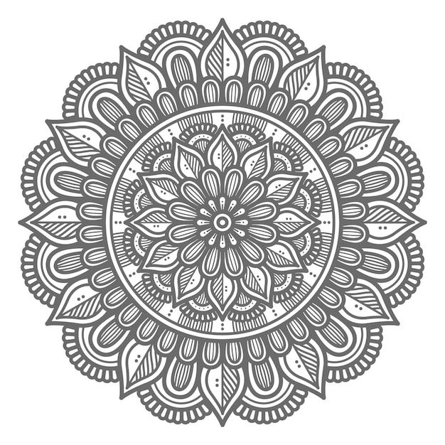 Abstrakte und dekorative konzept-mandala-illustration im kreisförmigen stil Premium Vektoren
