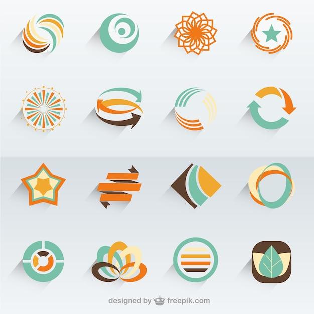 Abstrakte Vektor-Logo-Vorlagen | Download der kostenlosen Vektor