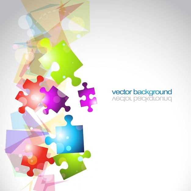 Abstrakte vektor puzzle formen eps10 hintergrund Kostenlosen Vektoren
