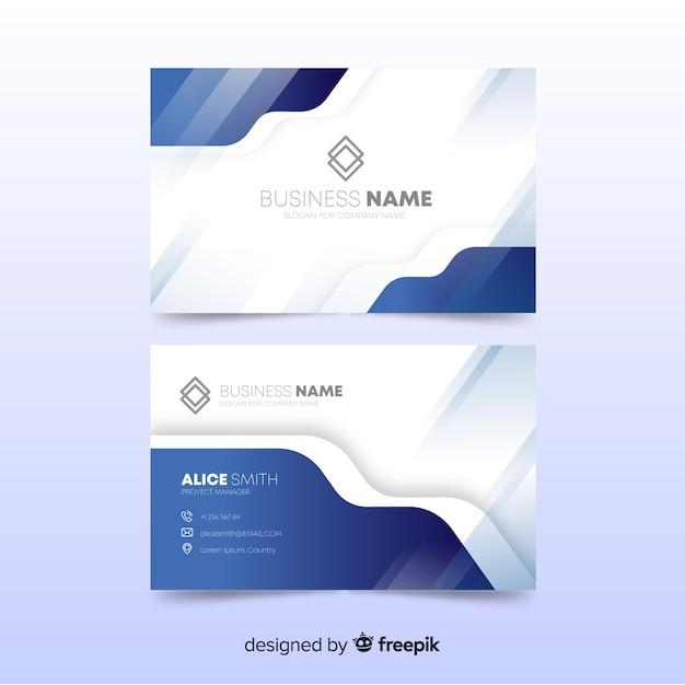 Abstrakte Visitenkarte Vorlage Download Der Kostenlosen Vektor