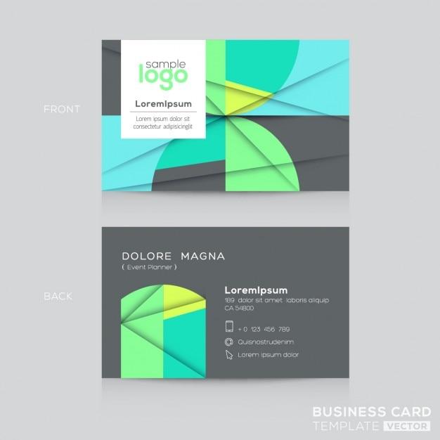 Abstrakte Visitenkarten Design Vorlage Kostenlose Vektor