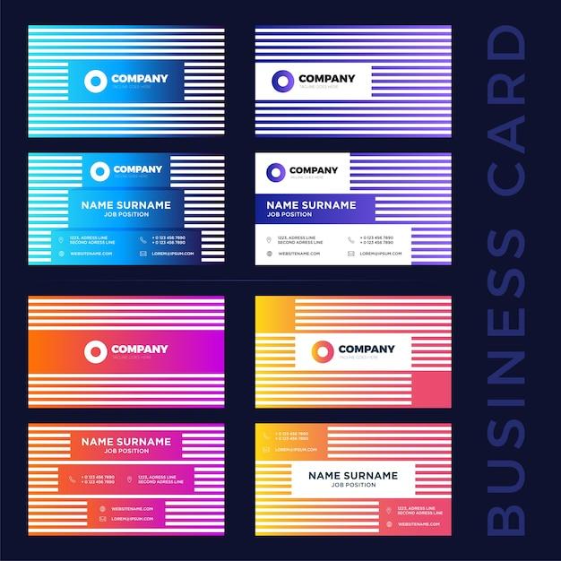 Abstrakte Visitenkarten Vorlagen Download Der Premium Vektor