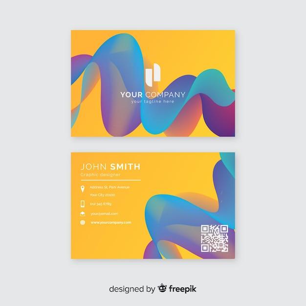 Abstrakte visitenkartenvorlage mit farbverlauf Kostenlosen Vektoren