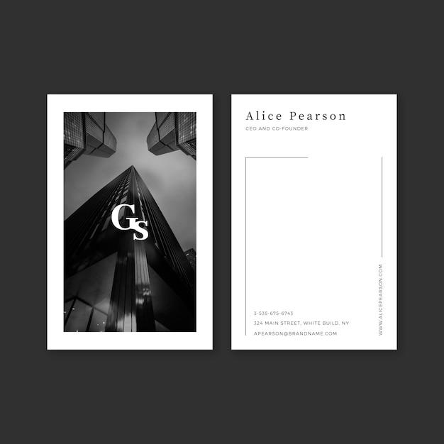 Abstrakte visitenkarteschablone mit foto Kostenlosen Vektoren