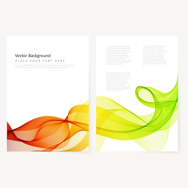 Abstrakte Vorlage Farbflyer   Download der kostenlosen Vektor