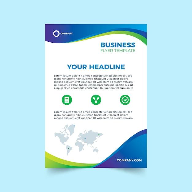 Abstrakte vorlage für business-flyer Premium Vektoren