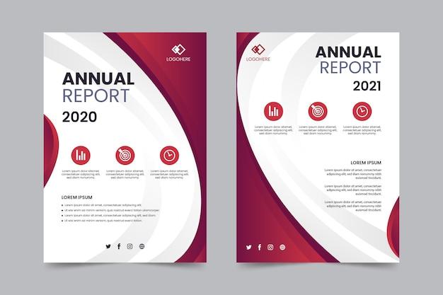 Abstrakte vorlage für den jahresbericht Kostenlosen Vektoren