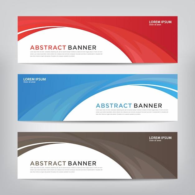 Abstrakte welle banner vorlage Premium Vektoren