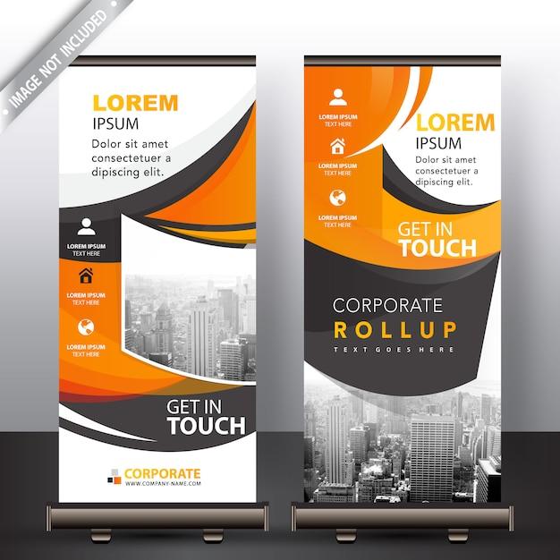 Abstrakte wellig roll-up-banner Kostenlosen Vektoren