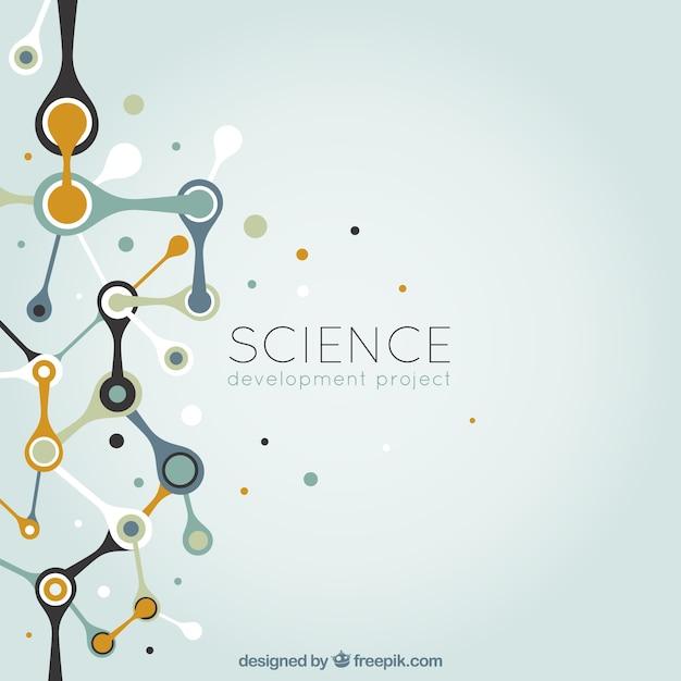 Abstrakte wissenschaft hintergrund Kostenlosen Vektoren