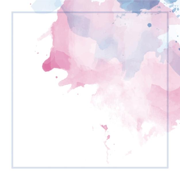 Abstrakter aquarellhintergrund mit rahmen Premium Vektoren