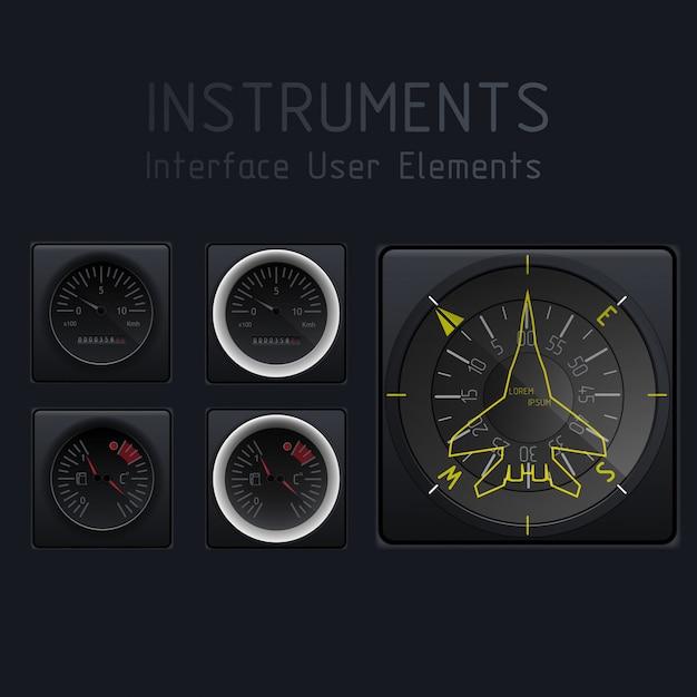 Abstrakter autotachometer Premium Vektoren