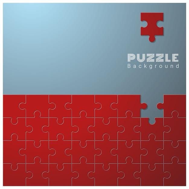Abstrakter begriffshintergrund mit unvollständigem puzzle Premium Vektoren
