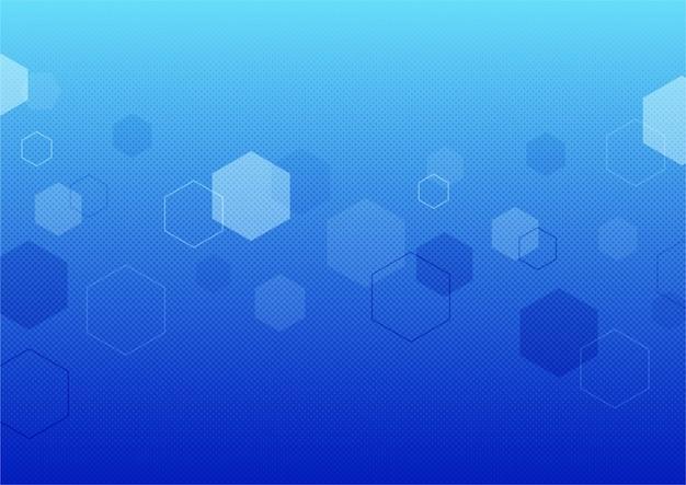 Abstrakter blauer bokeh beleuchtet effekthintergrund. Premium Vektoren