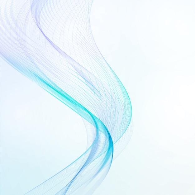 Abstrakter blauer hintergrund, futuristische gewellte illustration, kunstkonzept Premium Vektoren
