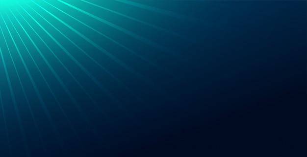 Abstrakter blauer hintergrund mit lichtstrahlenabfall Kostenlosen Vektoren