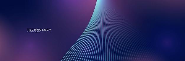 Abstrakter blauer hintergrund mit modernem technologiekonzept Premium Vektoren
