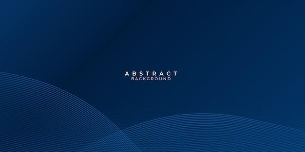 Abstrakter blauer hintergrund mit wellenwasserkreis-spirallichtbeschaffenheit Premium Vektoren