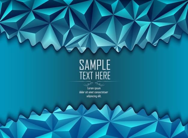 Abstrakter blauer polygonaler hintergrund mit platz für text Premium Vektoren