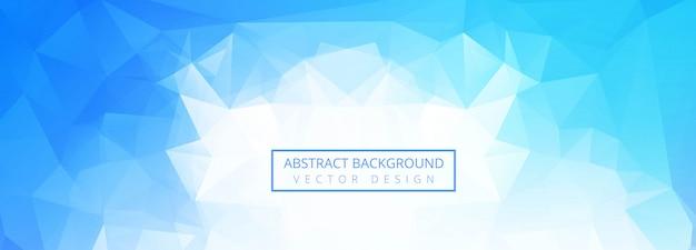 Abstrakter blauer polygonfahnenhintergrund Kostenlosen Vektoren