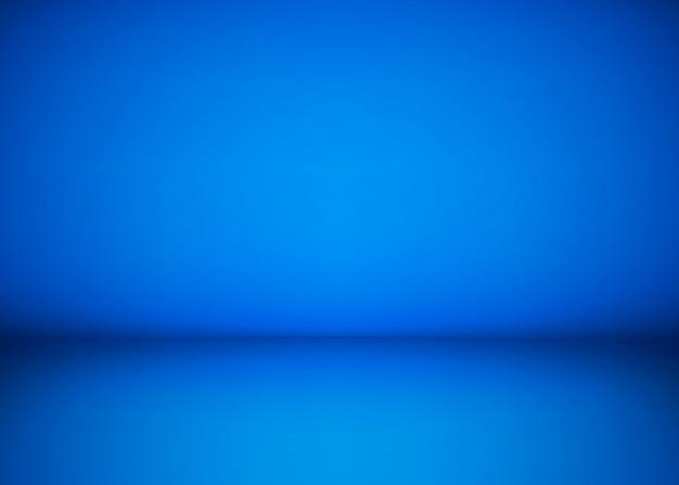 Abstrakter blauer studio-werkstatthintergrund. vorlage von rauminnenraum, boden und wand. fotowerkstattraum. illustration Premium Vektoren