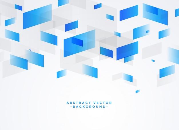 Abstrakter blauer und grauer geometrischer hintergrund Kostenlosen Vektoren
