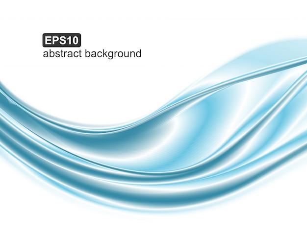 Abstrakter blauer wellenhintergrund. Premium Vektoren