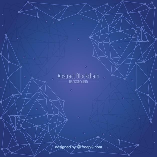 Abstrakter blockchain hintergrund Kostenlosen Vektoren