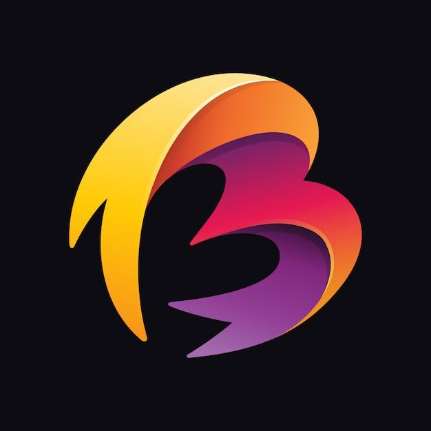 Abstrakter buchstabe b logo Premium Vektoren