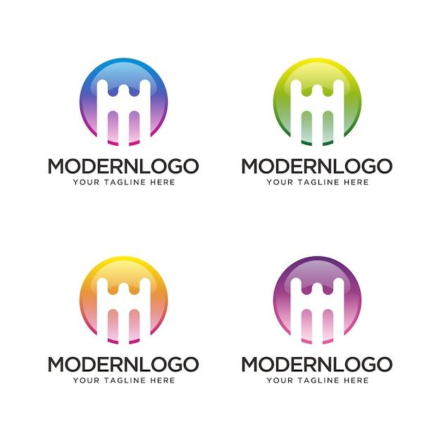 Abstrakter Buchstabe M mit unterschiedlicher Farbe. | Download der ...