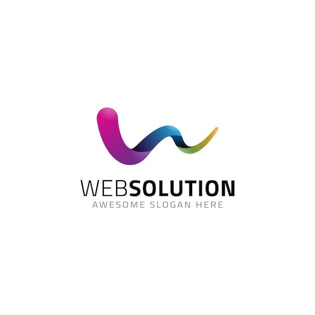 Abstrakter buchstabe w logo-vorlage Premium Vektoren