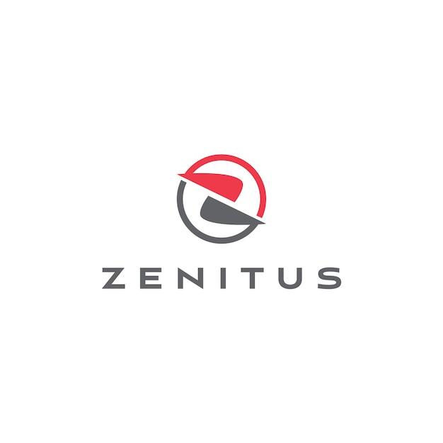 Abstrakter buchstabe z logo template Premium Vektoren