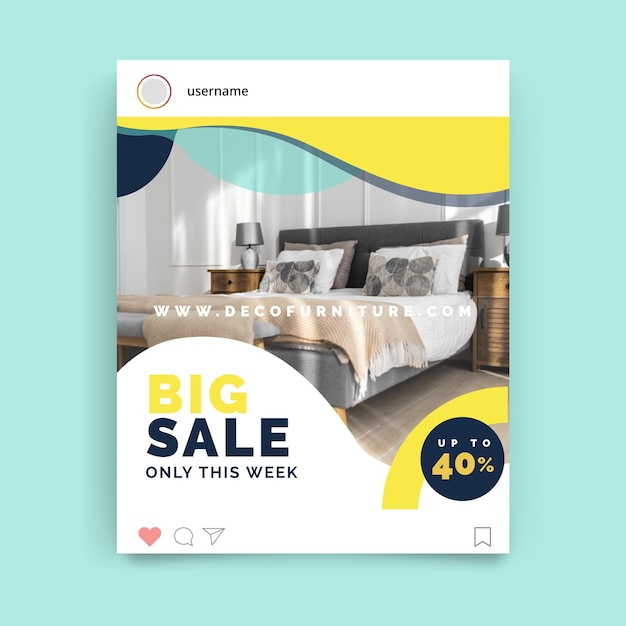 Abstrakter bunter design-instagram-beitrag Kostenlosen Vektoren