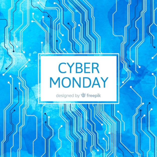 Abstrakter cyber-montag-verkaufshintergrund Kostenlosen Vektoren