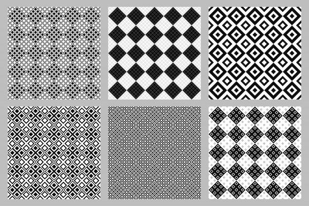 Abstrakter diagonaler quadratischer musterhintergrundsatz Premium Vektoren