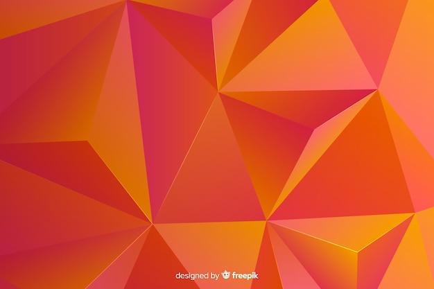Abstrakter dreidimensionaler geometrischer formhintergrund Kostenlosen Vektoren