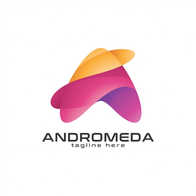 Abstrakter dreieck-pfeil oder buchstabe a-logo Premium Vektoren
