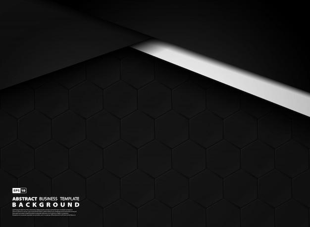 Abstrakter dunkler schablonentechnologiehintergrund Premium Vektoren