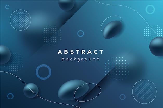 Abstrakter dynamischer geometrischer hintergrund Kostenlosen Vektoren