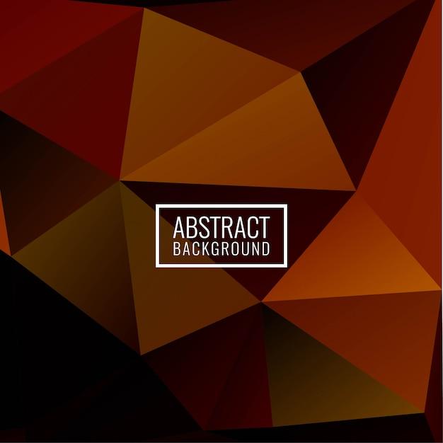 Abstrakter eleganter geometrischer polygonhintergrund Kostenlosen Vektoren