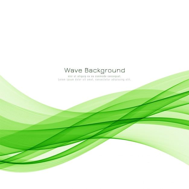 Abstrakter eleganter hintergrund der grünen welle Kostenlosen Vektoren