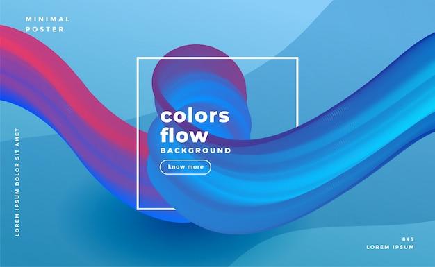 Abstrakter farbenflusswellen-zusammensetzungshintergrund Kostenlosen Vektoren