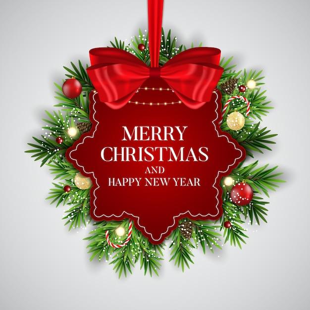 Abstrakter feiertags-neues jahr-und frohe weihnacht-hintergrund Premium Vektoren